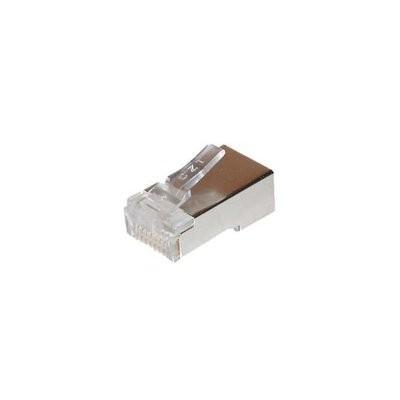 TP-Stecker TP, S-UTP,100-Pack, ohne Tülle, Einfädelkamm eingespritzt, für Rundkabel,