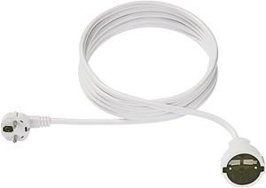 Bachmann Kabel, Verlängerung, Dose(CEE7)->Stecker(CEE7), 3m, weiss,