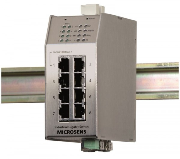 Microsens Profi Line industrial 10port Switch 1x Gigabit Dual, 7x 10/100, 3x SFP, MS650869MX-V2