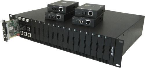 Perle Medien Konverter 1000 LC/LC Multi/Mono 20km