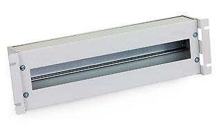 """Triton 19""""Schrank, zbh. Schutzschalterleiste(Hutschiene, DIN), 3HE, Schwarz, mit Abdeckung"""