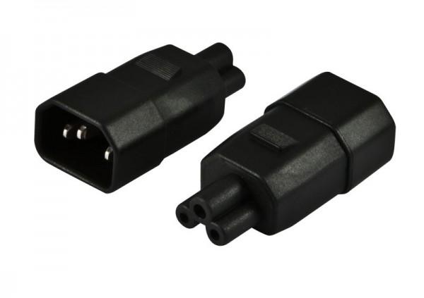 Netzkabel 230V Adapter (C14) Stecker -> IEC 320-C5 (Micky-Maus)