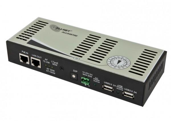 ALLNET ALL048700 / Splitter HPoE 90W 10-25V 2x USB 2.0 je 10