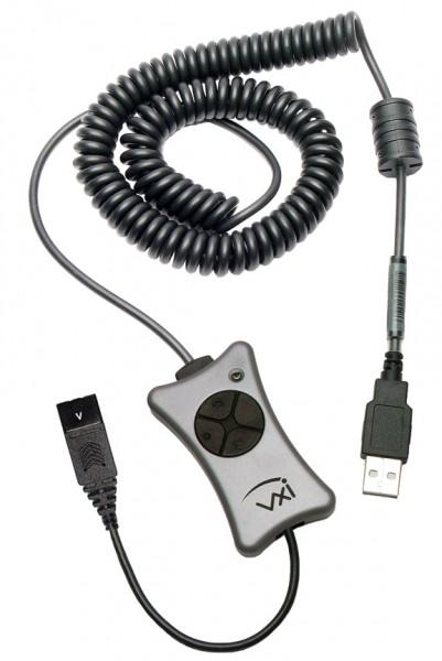 VXI Zubehör X200-V USB Adapter, QD auf USB, DSP, NC, Mute