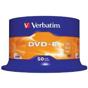DVD-Rohling 4,7GB - 50er - Spindel - Verbatim