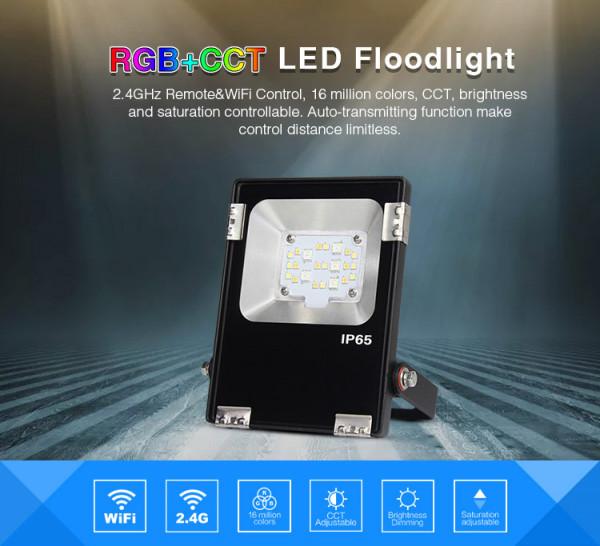 Synergy 21 LED Flächenstrahler 10W RGB-WW (RGB-CCT) IP65 24V *Milight/Miboxer*