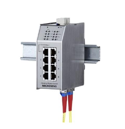 Microsens Profi Line Switch industrial 10port; 1xGb, 7x FE, 2x SC MS650851M