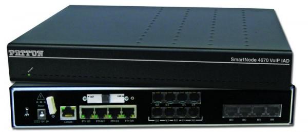 Patton SmartNode 4671 ADSL IAD, 4 FXS, 4 FXO, HPC