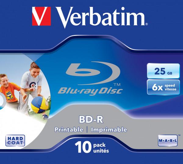 BD-Rohling 25GB - 10er - Jewel Case - Verbatim