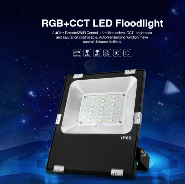 Synergy 21 LED Flächenstrahler 30W RGB-WW (RGB-CCT) IP65 230V *Milight/Miboxer*