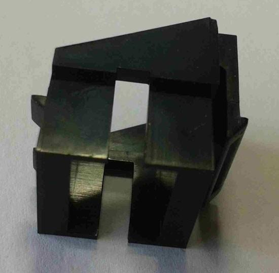 Keystone, Modul, Aufnahme für LWL-Kupplungen(LC), schwarz,