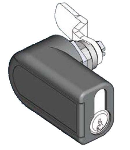 """Wandgehäuse 19"""", zbh. Kompaktschwenkhebel für Profilhalbzylinder, ohne Schließzylinder!"""