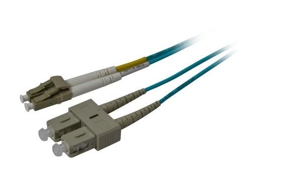 LWL-2-Faser-Patchk. 1.0mtr.LC-SC, 50/125um, OM3, AD=3mm, Synergy 21,