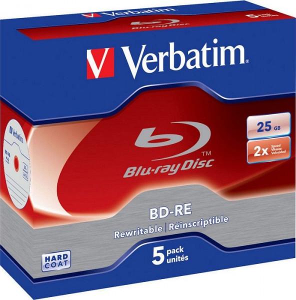 BD-Rohling 25GB - 5er - Jewel Case - Verbatim