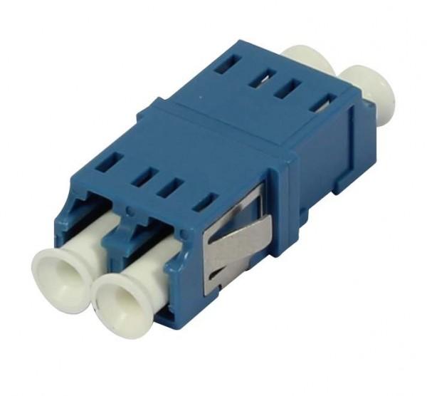 LWL-Kupplung, LC-Buchse/LC-Buchse, 9/125u Singlemode OS2, blau, duplex, PVC, ohne Flansch, Synergy