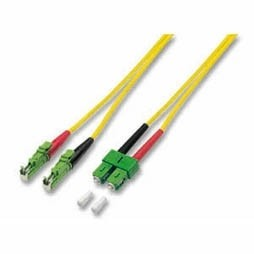 LWL-2-Faser-Patchk. 10mtr.E2000(APC8Grad)/SC(APC8Grad), 9/