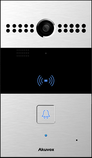 Akuvox TFE R26C IP Door SIP Intercom with one Button (Video & Card reader) *Main Body with On-Wall-K