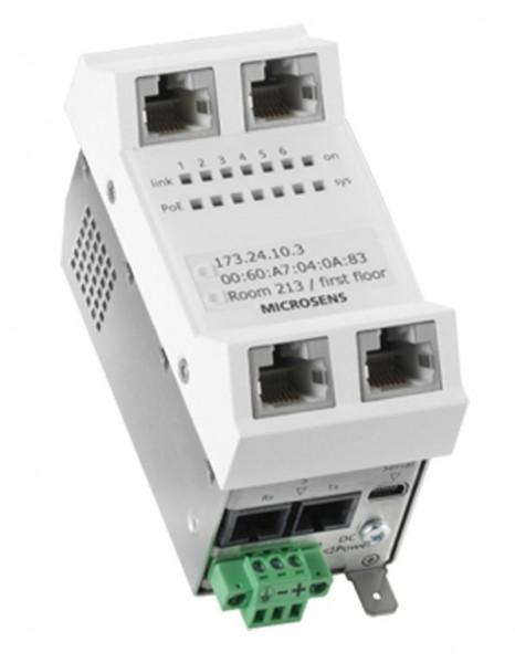 Microsens Installations-Switch 6 Port Gigabit PoE+ vert. Einbau, MS440210PM-48G6+