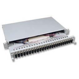 """LWL-Patchpanel Spleisbox,19"""", 12xSC-Duplex, 50/125um OM4,"""