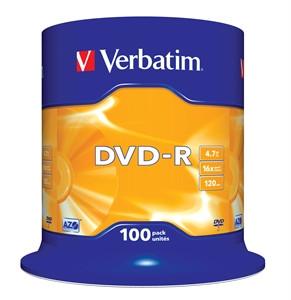 DVD-Rohling 4,7GB - 100er - Spindel - Verbatim