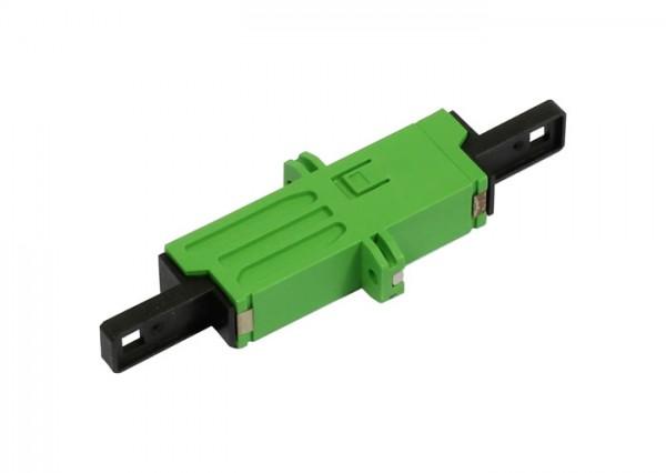 LWL-Kupplung, LSH(E2000APC)-Buchse/LSH(E2000APC)-Buchse, 9/125u Singlemode, grün, simplex, PVC, Ker
