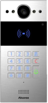 Akuvox TFE R20K Slim SIP Intercom with Keypad and RF card reader *On-Wall* *silver*