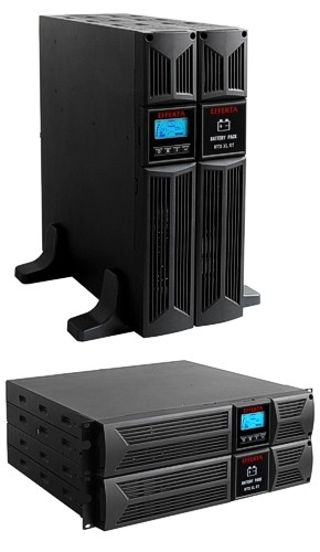"Effekta MTD RT XL Lineinter. USV,1000VA, 33min, MTD1000RTXL, USB+RS232, Schwarz, Tower/19"","