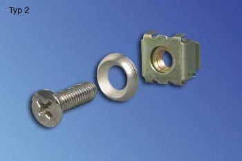Knürr zub.Befestigungsset Lochraster BL2, 5mm, 50-Pack,