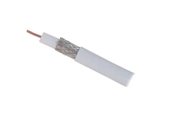 Kabel SAT, Koaxial geschirmt 2-fach, CCS, 100m, Spule,