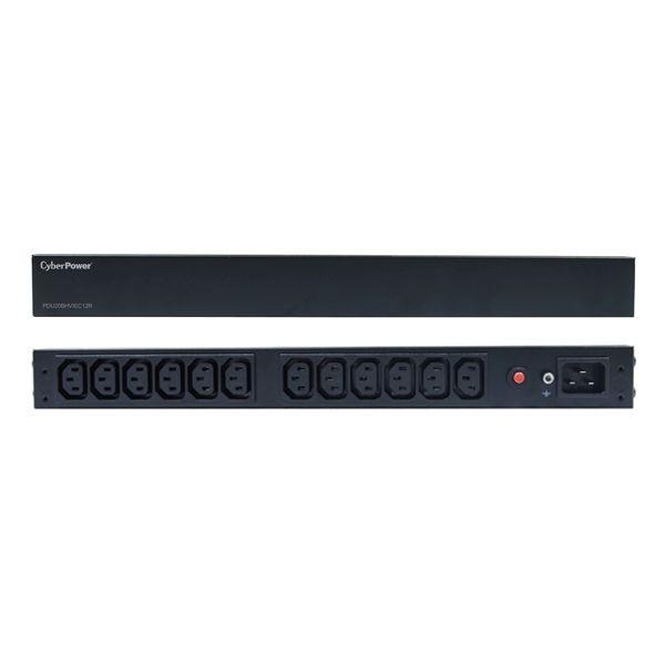 CyberPower PDU, BASIC, 230V/16A, 1HE, 12x C13 Ausgang, 1xC20 Eingang,