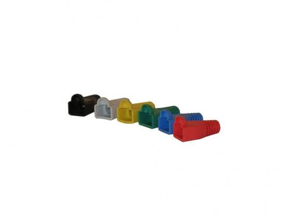 TP-Stecker TP, S-UTP, zbh.Tülle, Schwarz,100Pack, OD=5,3mm,