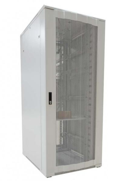 """ALLNET 19""""Schrank, 42HE, B800/T1200mm, perforierte Blechtüren, Lichtgrau, SNB-Serie,"""