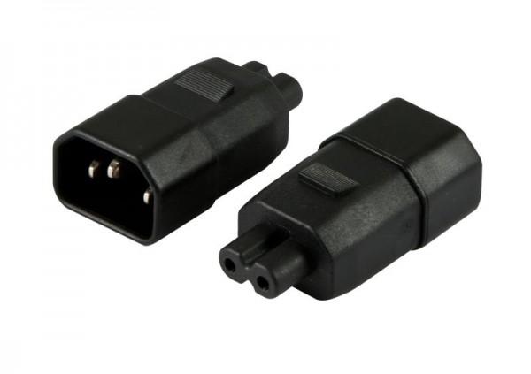 Netzkabel 230V Adapter (C14) Stecker -> EURO8