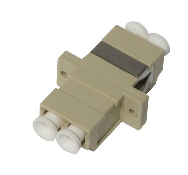 LWL-Kupplung, LC-Buchse/LC-Buchse, 50/125u Multimode, duplex, PVC, Keramikhülse, OM2, mit Flansch, S
