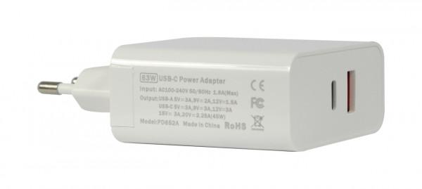 ALLNET Ersatznetzteil QC USB-C PD Netzteil Power Supply63Watt 1x USB Typ-A, 1x USB Typ-C**EU PLUG*