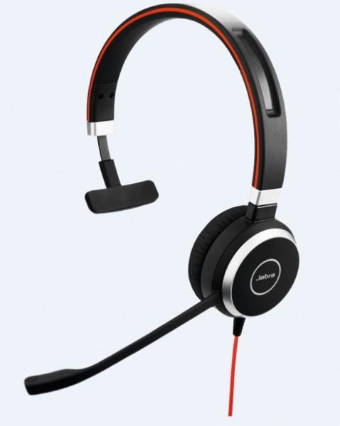 Jabra Evolve 40 Headset Mono 3,5mm / USB-C MS