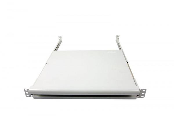 """ALLNET 19""""zbh. Tastaturboden ausziehbar, für 1200mm Schrank tiefe, Lichtgrau, t950-1050mm,"""