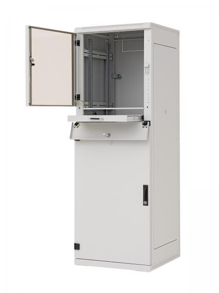 "Triton 19""Schrank 37HE, B600/T 600, Lichtgrau, Industri IP20"
