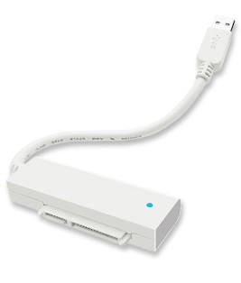 """ICY Box Adapter, SATA 2, 5""""/USB 3.0, weiss, IB-AC603a-U3,"""