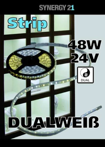 Synergy 21 LED Flex Strip dual white (CCT) DC24V 48W pro Farbe IP20
