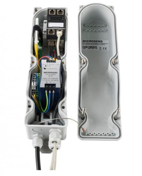 Microsens Mastgehäuse Outdoor für Switch und Netzteil, MS711000-230NT48