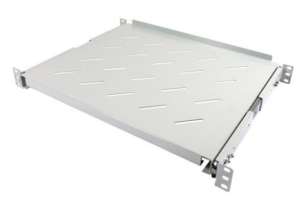 """ALLNET 19""""zbh. Fachboden ausziehbar, für 600mm Schrank tiefe, Lichtgrau, t350-450mm,"""
