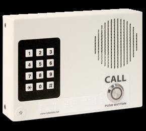 CyberData VoIP Intercom w/Keypad ? Flush Mount, Standard Col