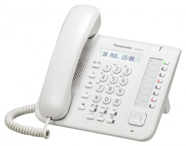 Panasonic KX-NT551NE-B IP Systemtelefon weiss